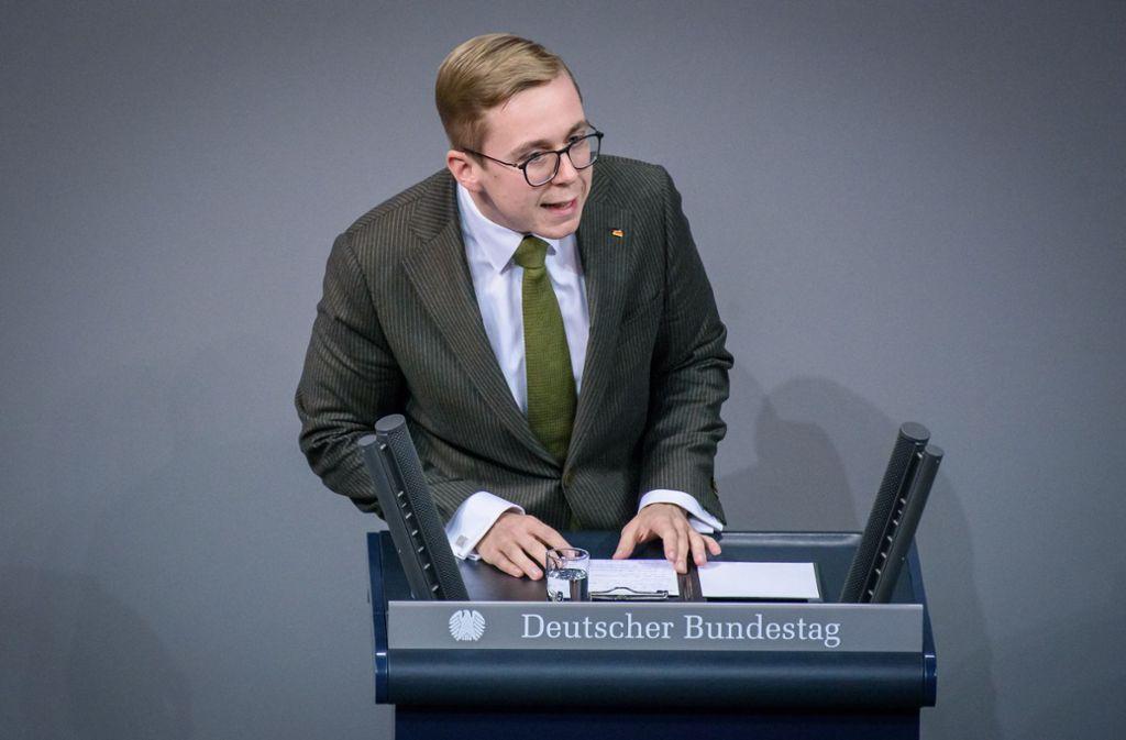 Philipp Amthor sitzt für die CDU im Bundestag. Foto: imago images/Christian Spicker/Christian Spicker via www.imago-images.de