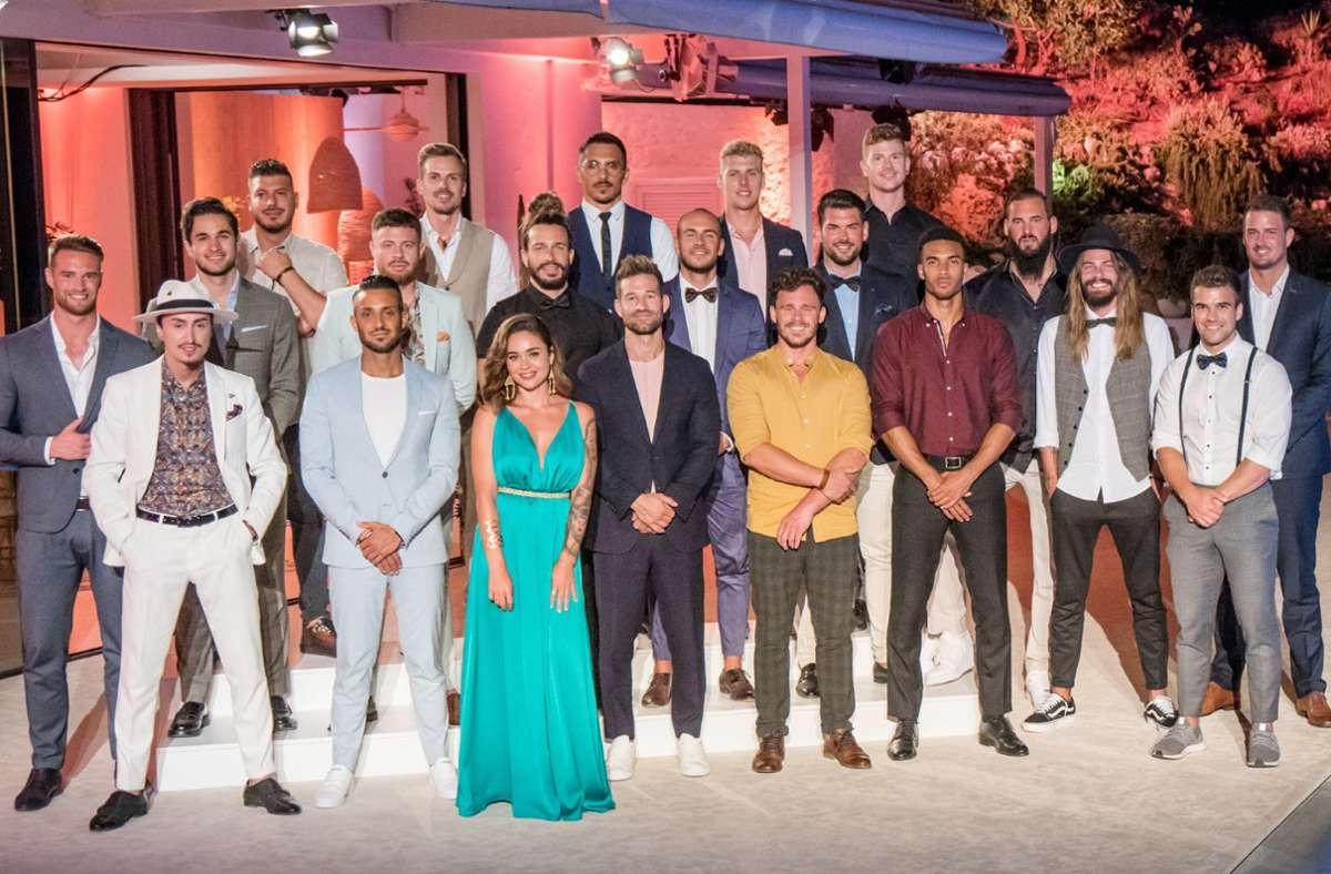 Diese 20 Single-Männer kämpfen um das Herz der diesjährigen Bachelorette Melissa. Foto: RTL/TVNOW