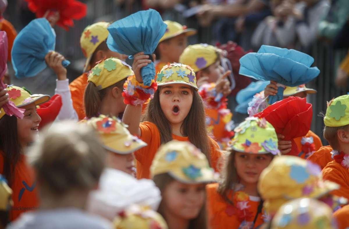 An einen  fröhlichen Festzug durch die Stadt ist beim Fellbacher Herbst im Zeichen der Pandemie erneut nicht zu denken. Foto: Archiv/Gottfried Stoppel