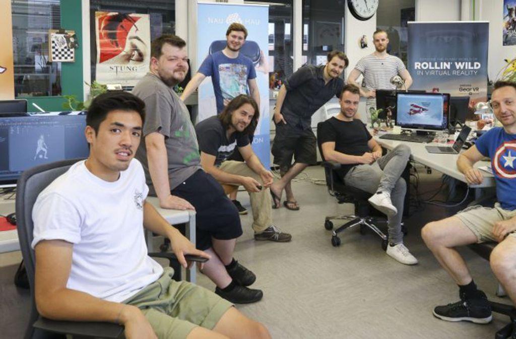 Das Team von Pixelcloud in Ludwigsburg. Foto: factum/Granville