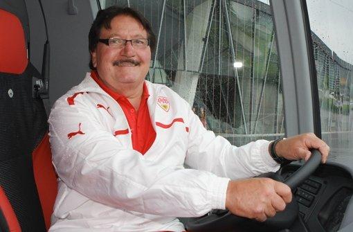 Immer als erster Busfahrer im Stadion: Rolf Geissler Foto: Baumann