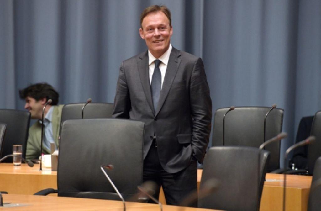 SPD-Fraktionschef Thomas Oppermann im Edathy-Ausschuss Foto: dpa