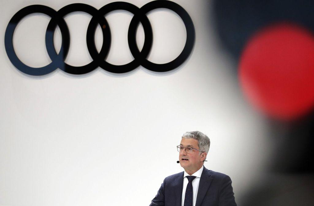Audi steht wegen des Vorwurfs von Fahrzeugmanipulationen im Visier der Ermittler. Der Ex-Chef Rupert Stadler soll durch einen internen Prüfbericht von den Manipulationen durch Mitarbeiter erfahren  haben. Foto: AP