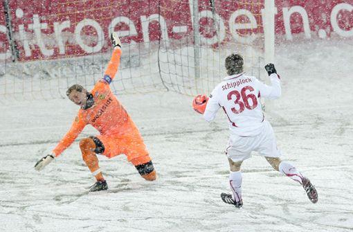 Als im Berner Wankdorfstadion das Schnee-Chaos einsetzte