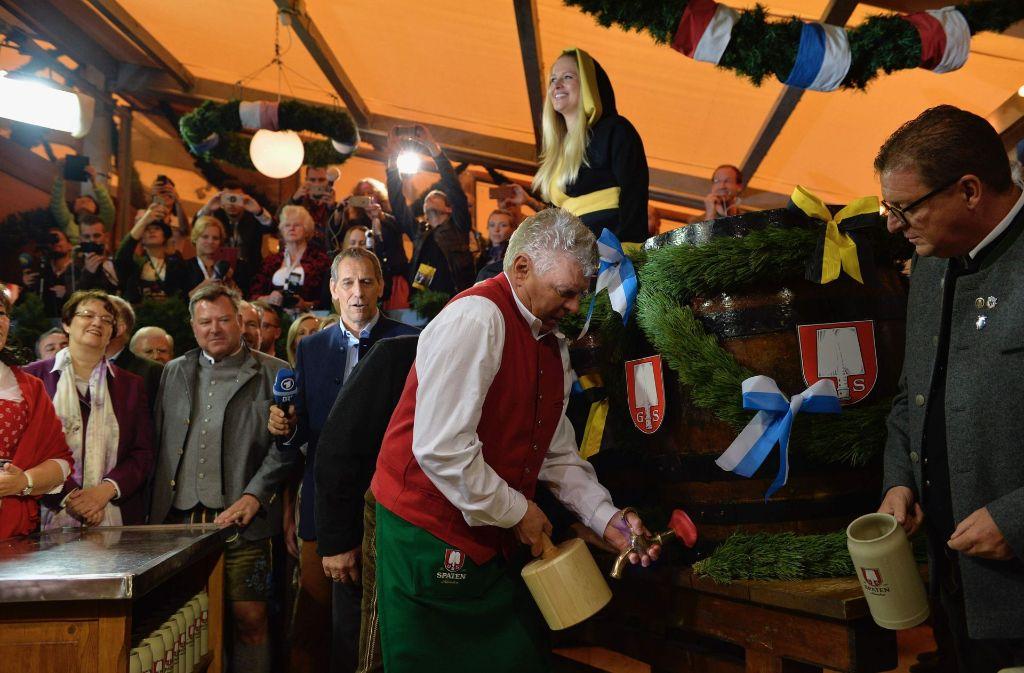 Münchens Oberbürgermeister Dieter Reiter (SPD) eröffnete das Oktoberfest. Foto: AFP