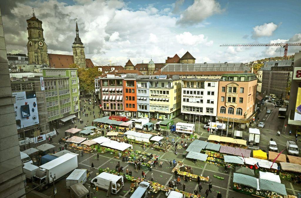 Die  Gestaltung der Kernfläche des Marktplatzes  und die Sanierung des Marktbrunnens dürften etwa 4,7 Millionen Euro kosten. Foto: Lichtgut/Achim Zweygarth
