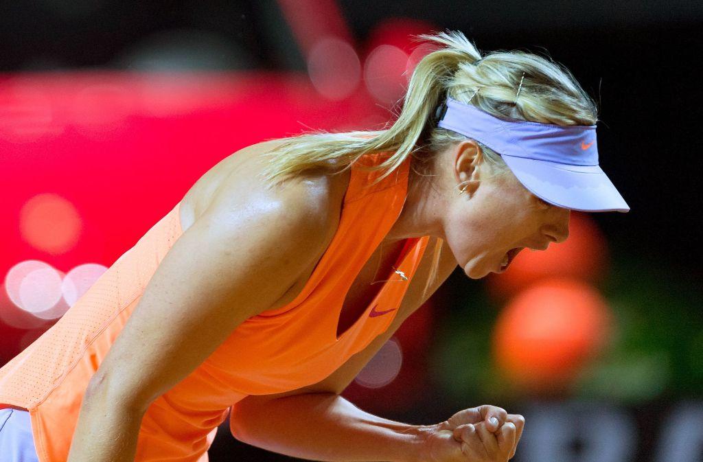 Freude bei Scharapowa. Die Russin ist zurück im Tenniszirkus. Foto: dpa