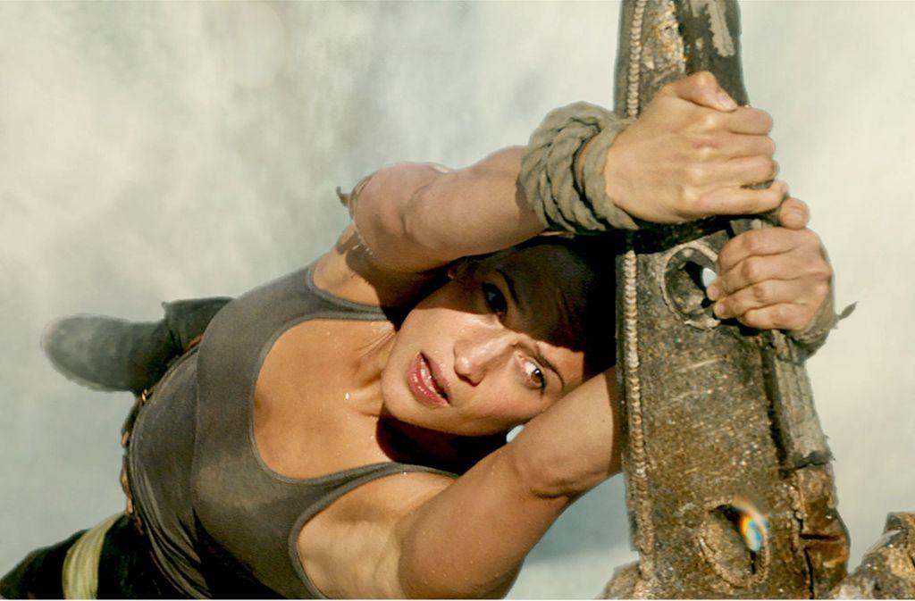"""Glaubwürdige physische Präsenz: Alicia Vikander als Lara Croft in """"Tomb Raider"""" Foto: Warner Bros."""