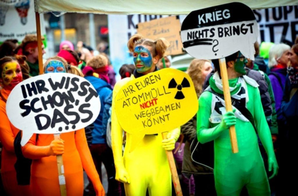 Climate-Parade in Stuttgart Foto: Lg/Zweygarth