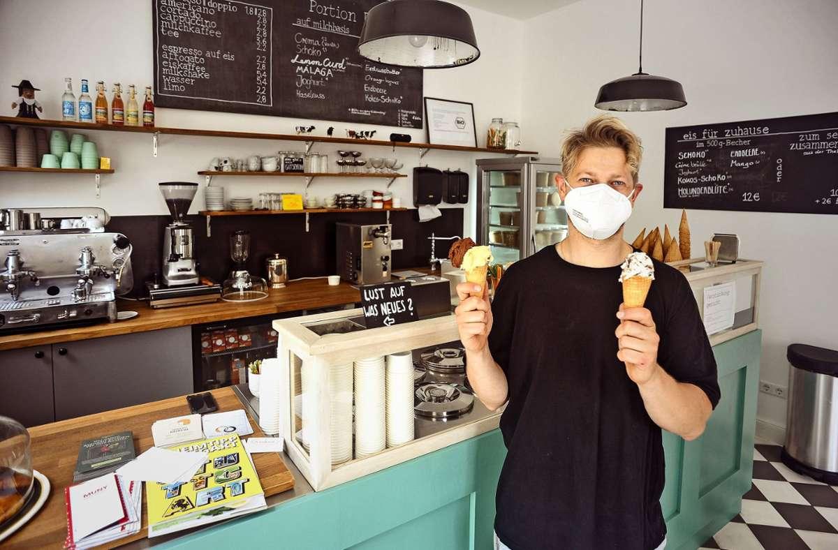 Sebastian Kern muss ehrlich bleiben: Wer glaubt, dass Eis gesund ist, irrt. Foto: Lgt/Max Kovalenko