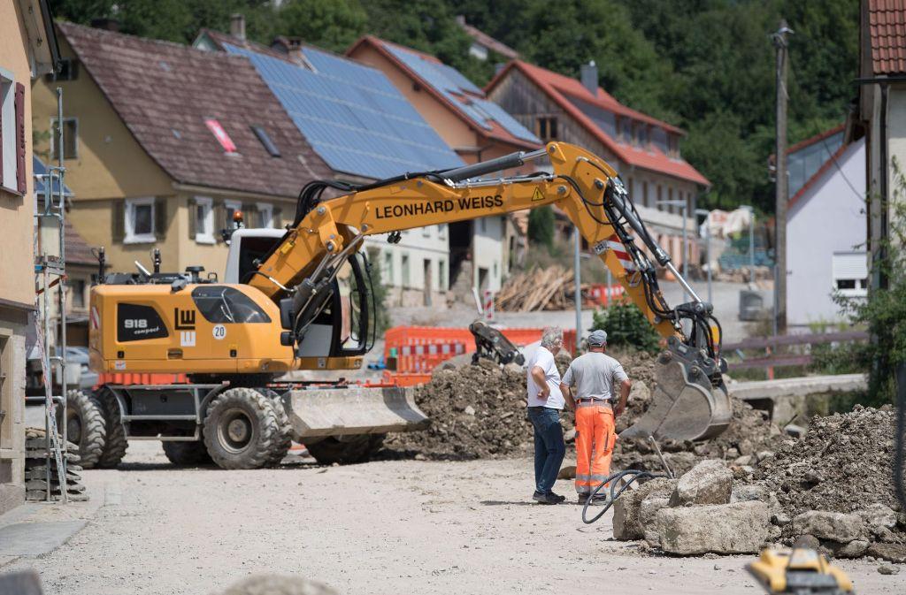 In Braunsbach werden zurzeit die Straßen saniert. Foto: dpa
