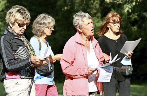 Spontan-Singen im Sindelfinger Sommerhofenpark