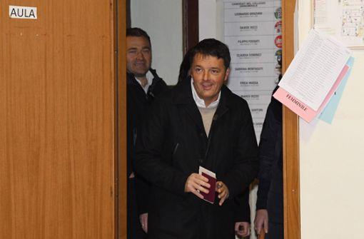 Verwirrung um bevorstehenden Rücktritt von Renzi als Parteichef