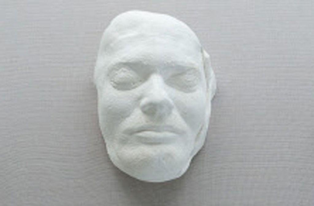 Die Totenmaske von Andreas Baader, abgenommen in der Nacht vom 18. auf den 19. Oktober 1977. Foto: dpa