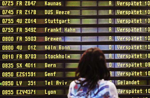 Abfertigung am Airport Berlin-Schönefeld gestoppt
