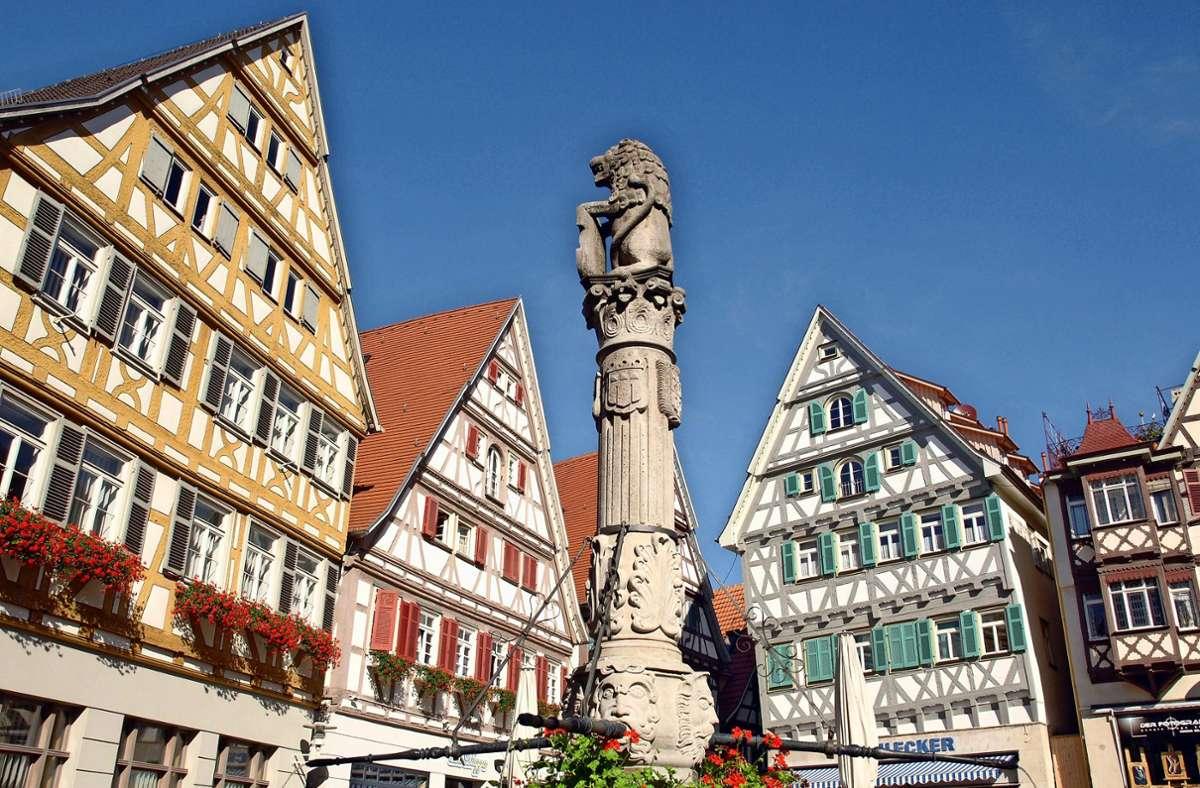 Die  Altstadt von Herrenberg ist malerisch – und auch ohne Sonntagsverkauf ein Anziehungspunkt für Besucher. Foto: Stadt Herrenberg