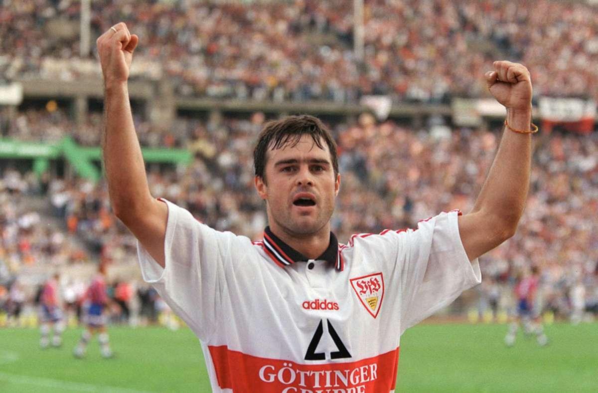 Thomas Berthold in seiner aktiven Zeit beim VfB Stuttgart. Foto:
