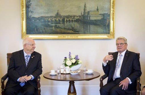 Gauck und Rivlin warnen