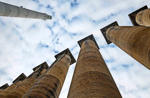 Diese Säulen sollten in Hitlers Germania verbaut werden