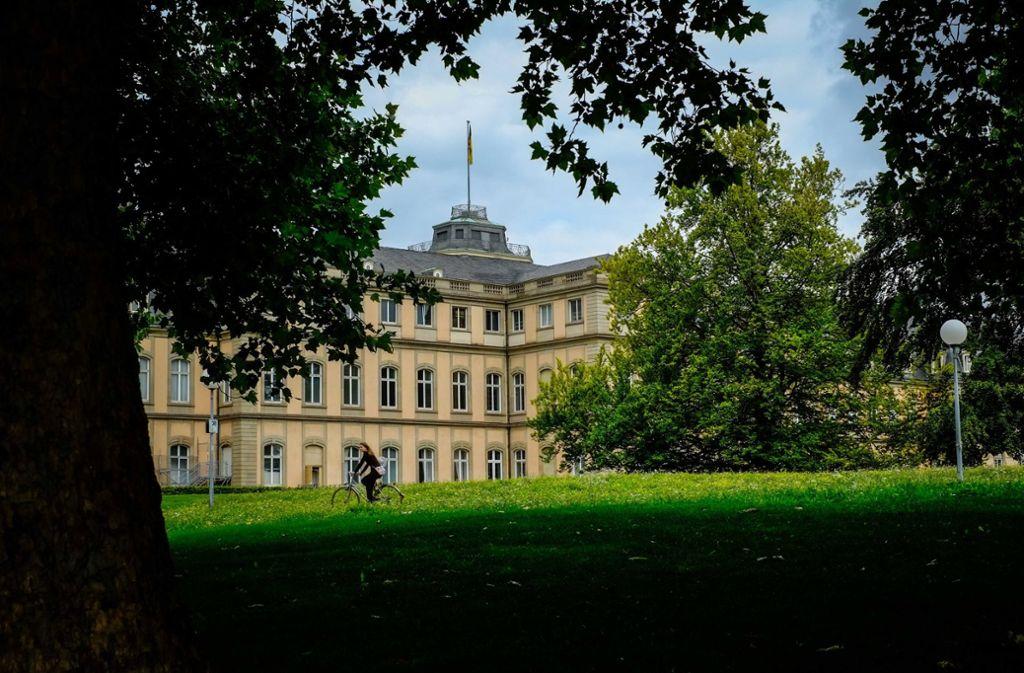 Der Akademiegarten vor dem Neuen Schloss gilt Stadtklimatologen als Teil der Hauptbelüftungsachse für die Stuttgarter City. Foto: Lichtgut/Max Kovalenko
