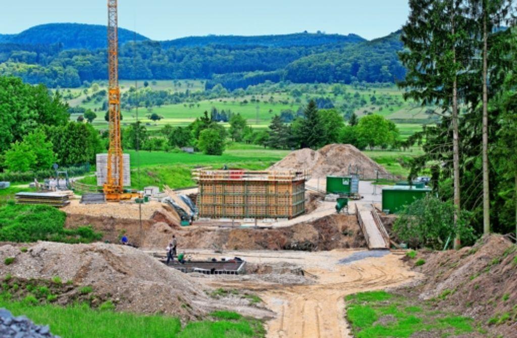 Im Osten von Süßen gehen die Arbeiten für die Ortsumfahrung, die neue  B466,  mit großen Schritten voran. Foto: Horst Rudel