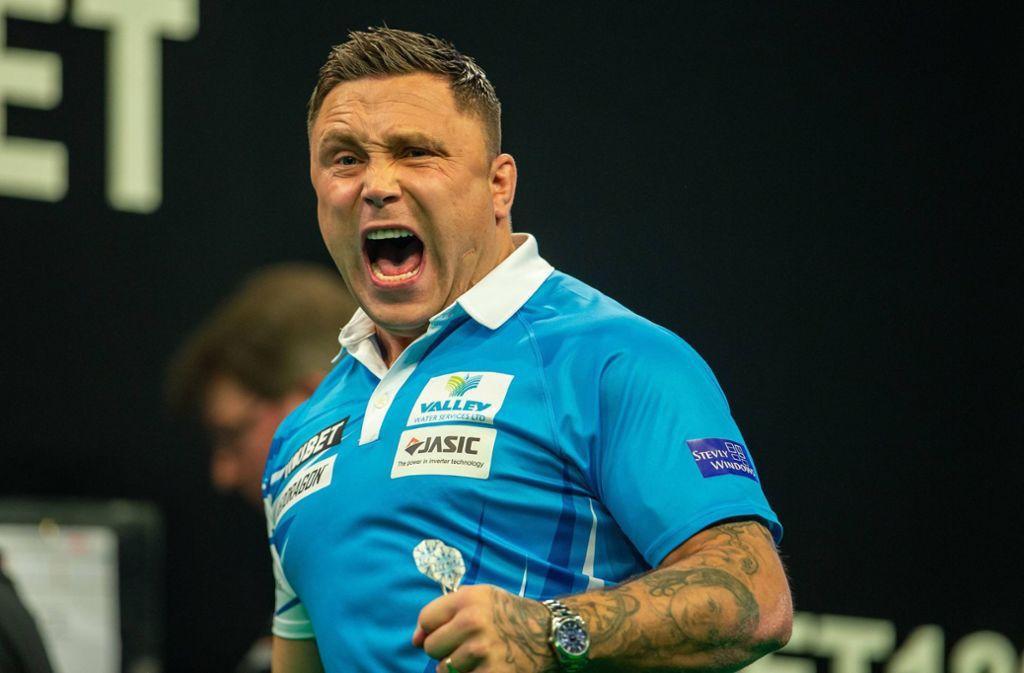 Gerwyn Price hat beim Grand Slam of Darts gewonnen. Foto: imago images / Action Plus/Tim Williams