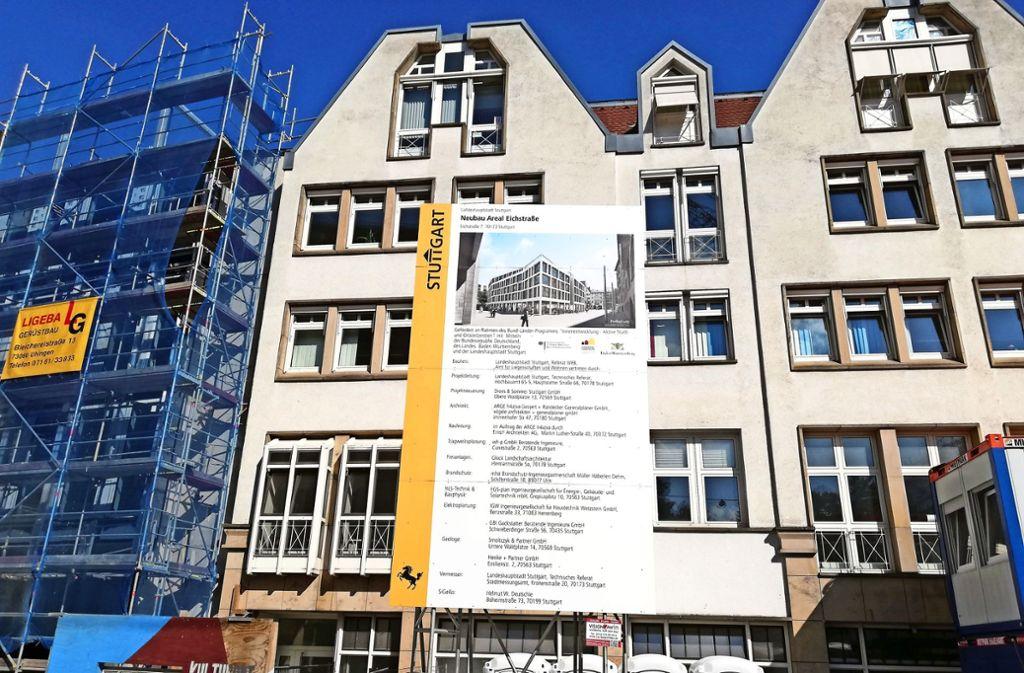 An der Eichstraße will die Stadt auf insgesamt 370 Quadratmetern über Projekte wie das neue Rosensteinquartier informieren. Foto: Cedric Rehman