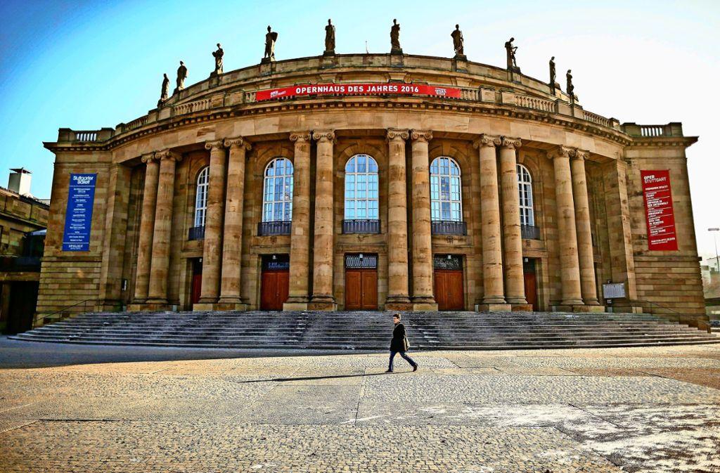 Die Oper in Stuttgart muss saniert werden. Foto: Lichtgut/Leif Piechowski