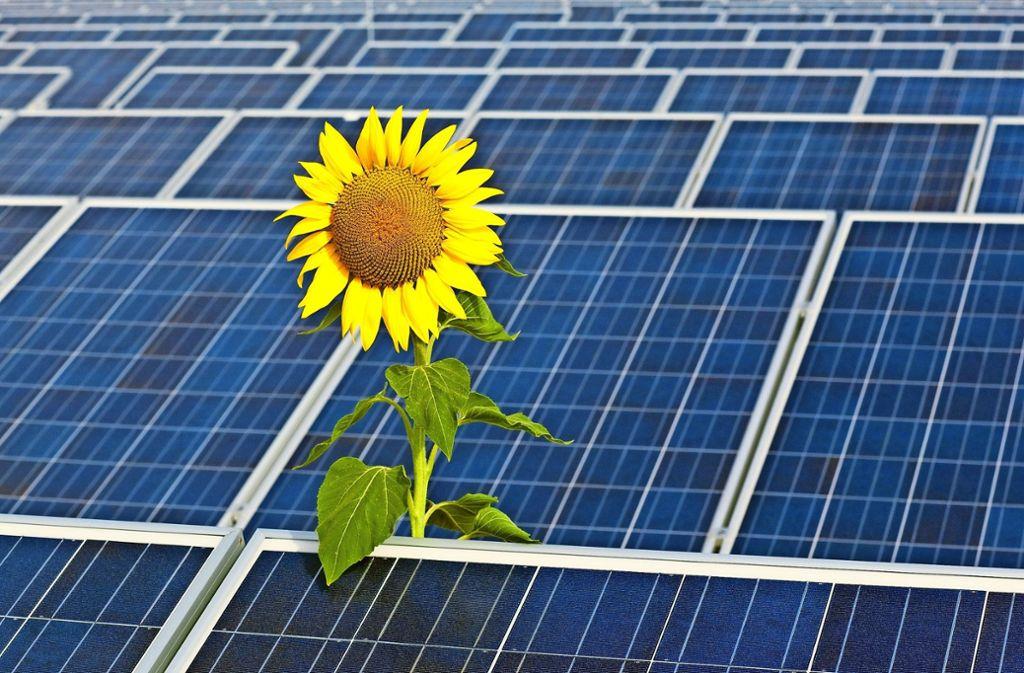 Filderstadt hat 2014 in einem Klimaschutzkonzept das Ziel festgelegt, alle fünf Jahre die CO2-Emissionen um zehn Prozent zu reduzieren. Mehr Solarstrom könnte helfen. Foto: dpa
