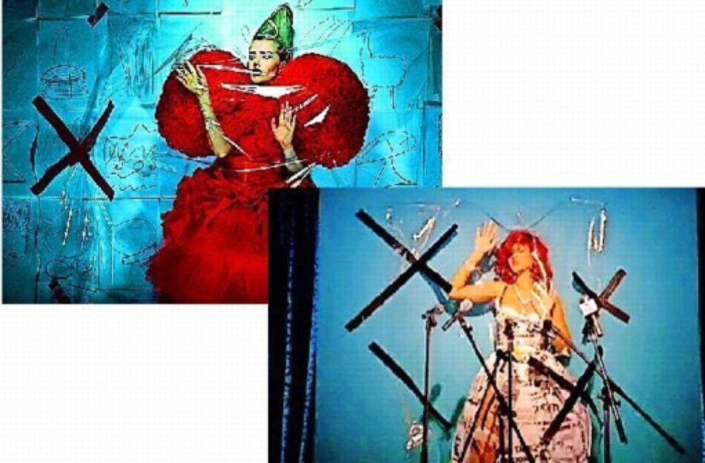 Der Fotograf klagt, weil er zu viele Übereinstimmungen zwischen seiner Bilderszenerie (oben) und der des Rihanna-Videos erkennt. Foto: privat/Universal  (Screenshot)