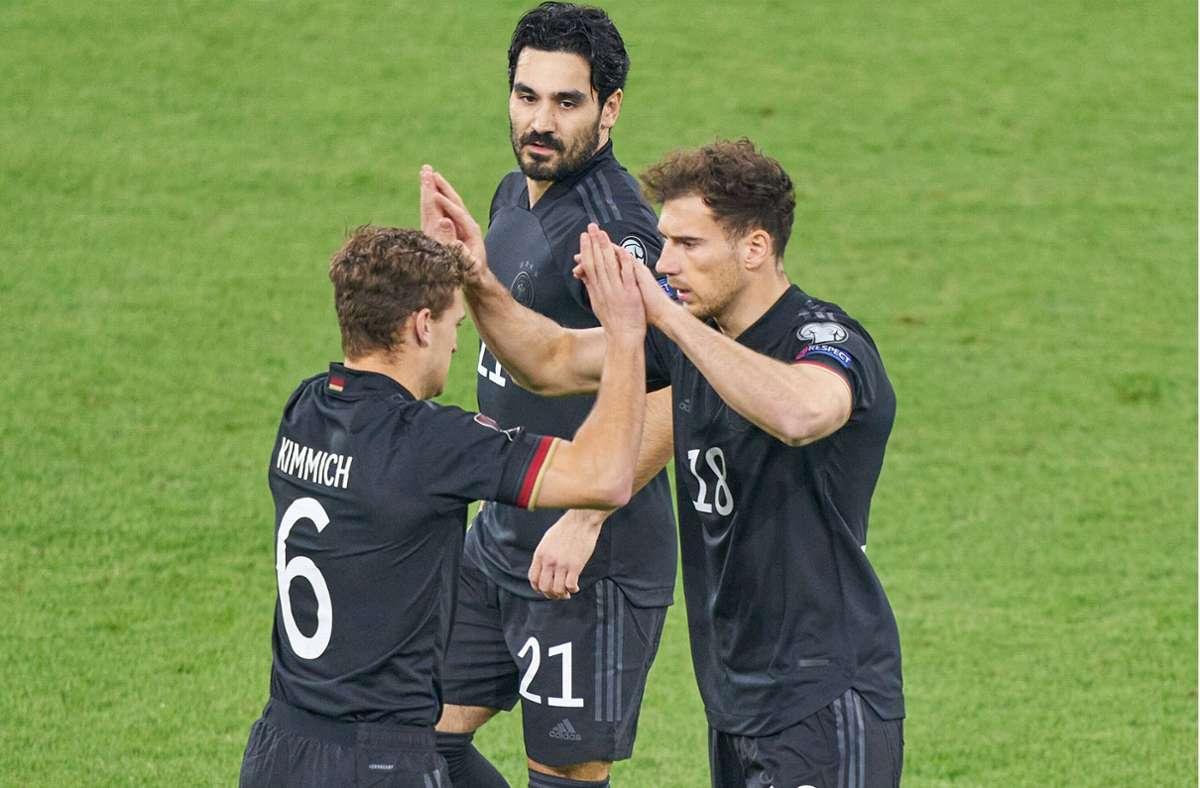 Kimmich, Gündogan, und Goretzka (v. li.): drei Spieler mit großer Klasse Foto: imago/action pictures
