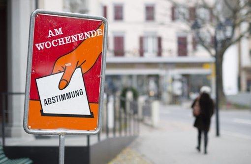 Schweizer stimmen dreimal Nein
