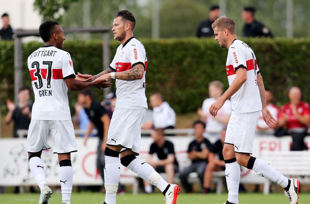 Der VfB Stuttgart spielt im Trainingslager in Österreich auch gegen Huddersfield Town aus England. Foto: Pressefoto Baumann