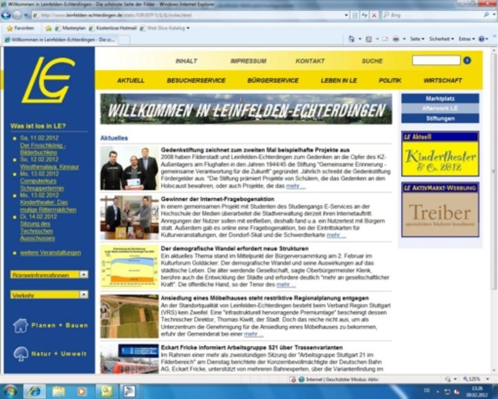 Die Homepage von L.-E. wird dieses Jahr überarbeitet. Foto: Screenshot Malte Klein