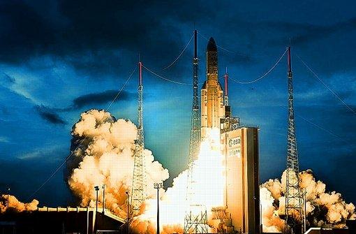 Zuletzt brachte eine Ariane 5 vor zwei Wochen zwei Kommunikationssatelliten ins All. Foto: Esa