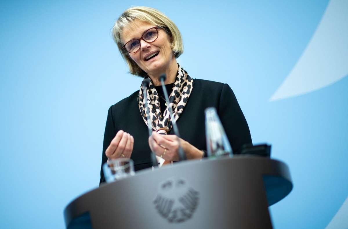 Der Bericht des Bundesrechnungshofes stellt ihrem Haus kein gutes Zeugnis aus. Bundesforschungsministerin Anja Karliczek (CDU). Foto: dpa/Bernd von Jutrczenka