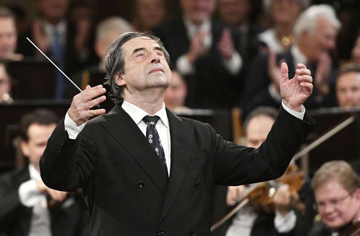 Riccardo Muti beim Neujahrskonzert der Wiener Philharmoniker 2018 Foto: dpa/Hans Punz