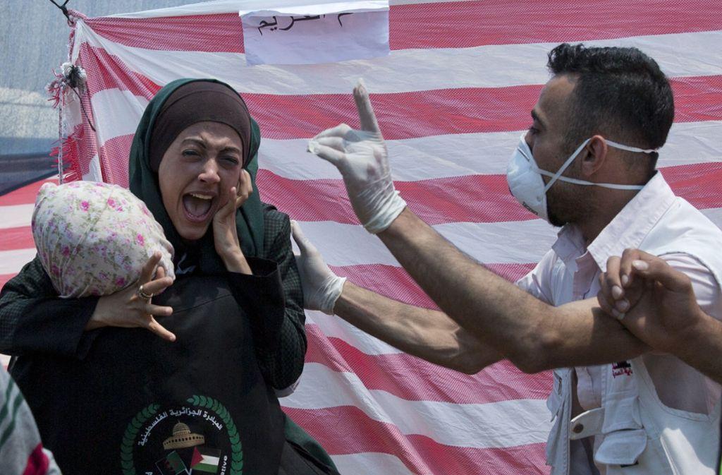 Die Trauer und Verzweiflung unter den Palästinensern ist nach den gewalttätigen Auseinandersetzungen groß. Foto: AP