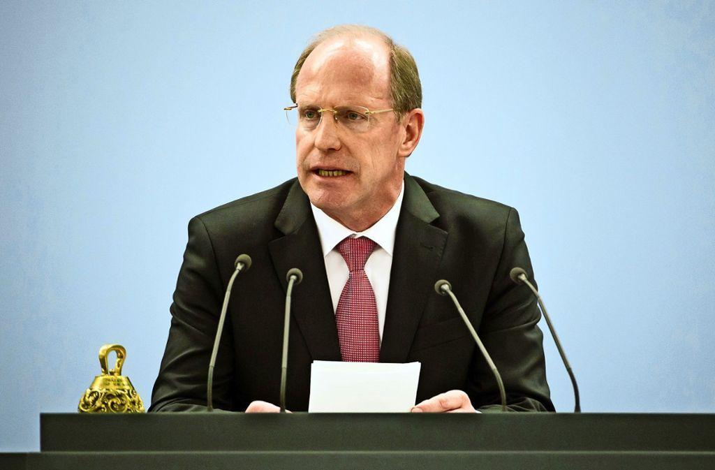 Der frühere Präsident steht dem Landtag vom kommenden Jahr an nicht mehr zur Verfügung. Foto: dpa/Daniel Naupold