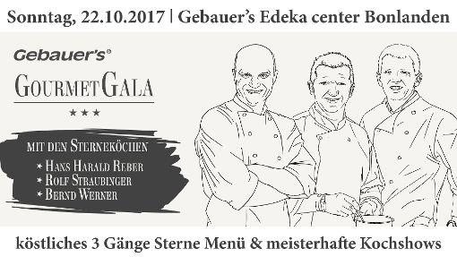 Die Gourmet Gala findet am 22.10.2017 im Gebauers E Center statt.