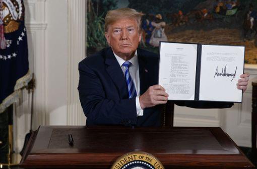 Donald Trump droht Feind und Freund
