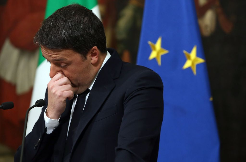 Zu hoch gepokert: Italiens Premier Renzi tritt ab. Foto: Getty