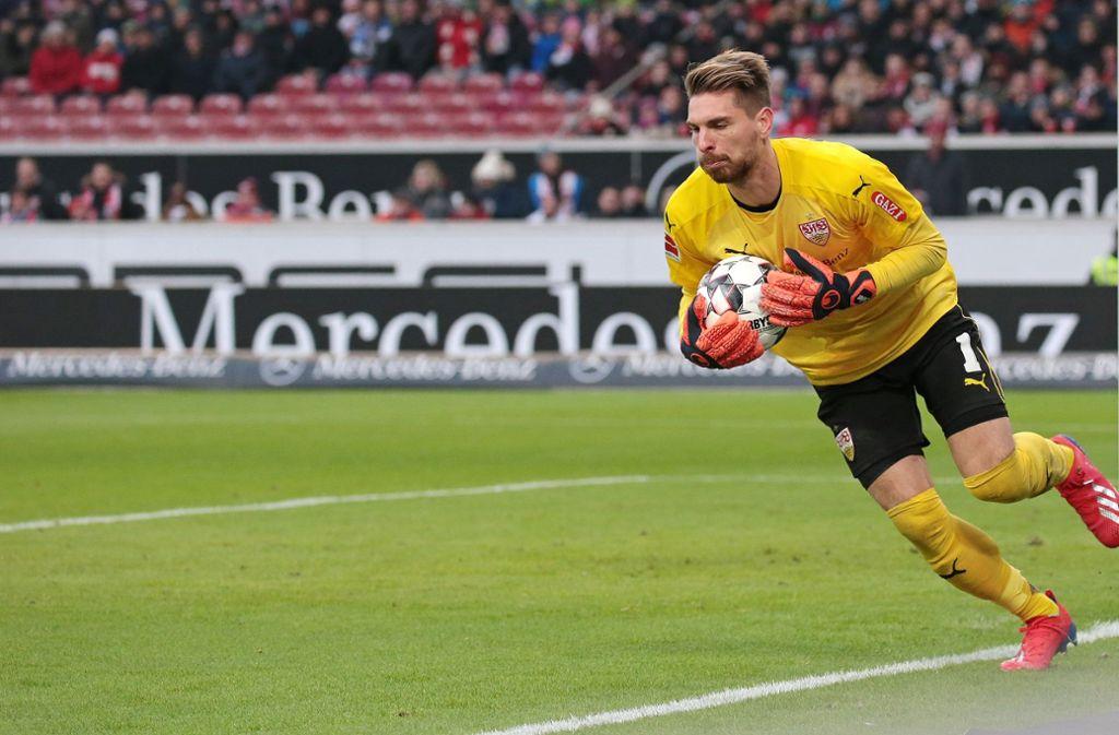 Ron Robert Zieler will und muss dem VfB Stuttgart in den nächsten 16 Spielen ein guter Rückhalt sein. Foto: Baumann