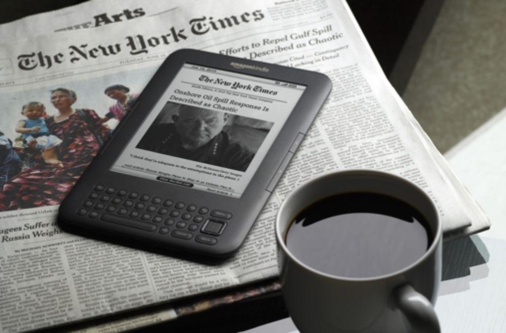 """Die """"New York Times"""" hat es vorgemacht, die  """"Welt"""" zieht nun nach: Sie ist die erste überregionale Tageszeitung in Deutschland, die ihr Internetangebot kostenpflichtig macht. Foto: Amazon"""