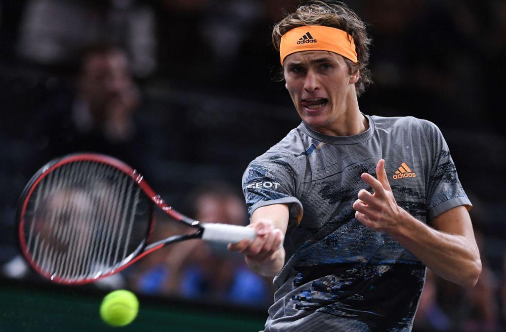 Wichtige Punkte für Alexander Zverev: In Paris erreicht er das Achtelfinale. Foto: AFP/CHRISTOPHE ARCHAMBAULT