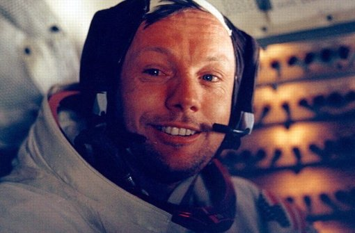 Ein uneitler Mann auf dem Mond