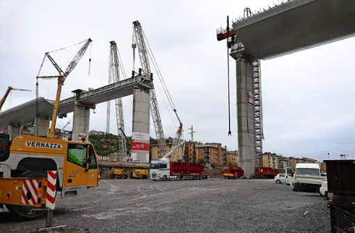 Neue Brücke von Genua bald fertig