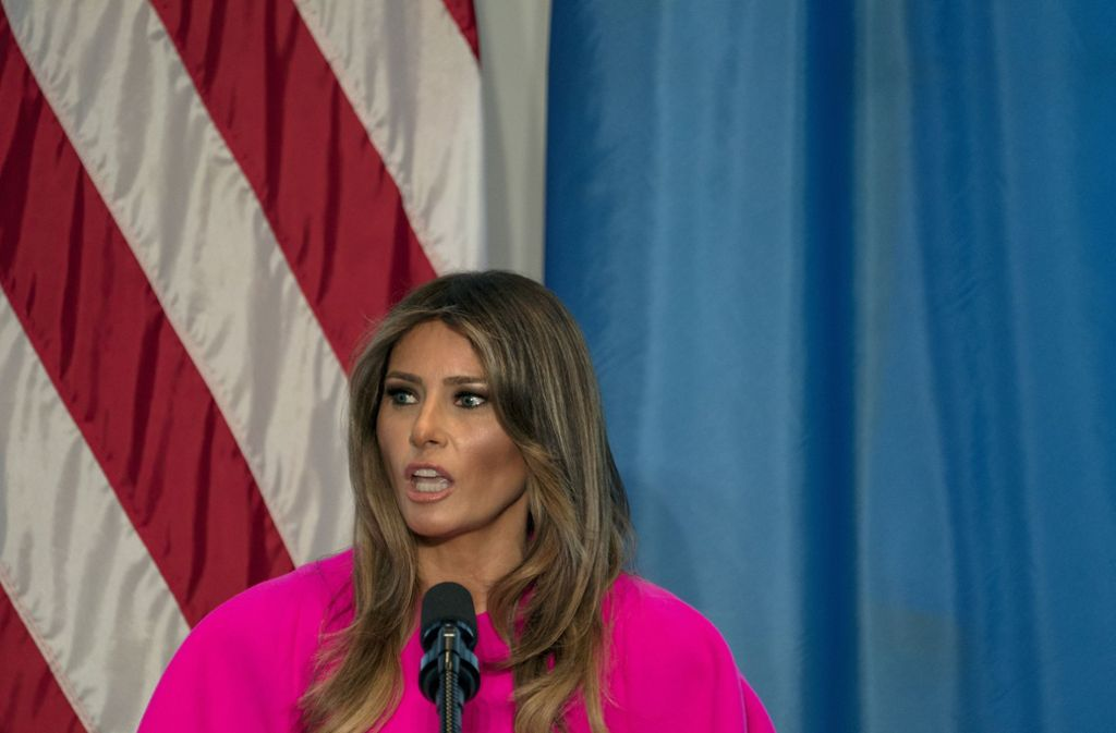 Melania Trump hat sich in den Flüchtlingsdebatte eingeschaltet. Foto: AP