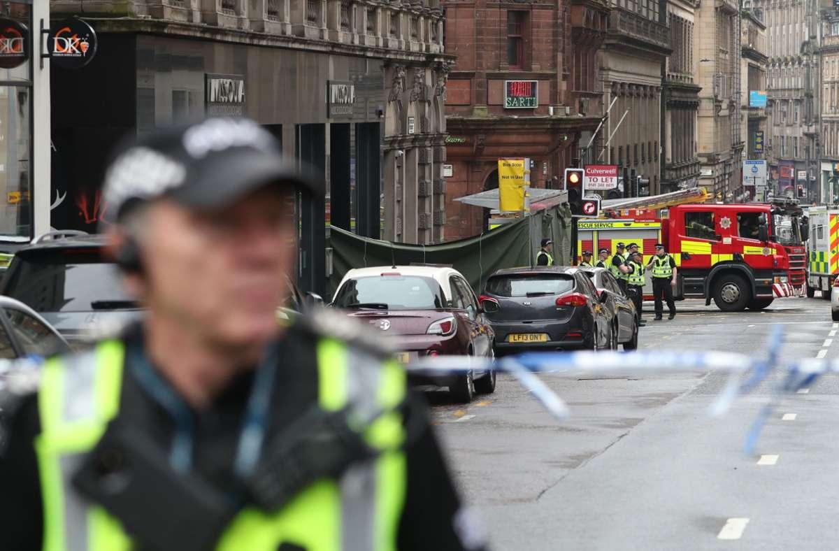 Nach der Messerattacke in Glasgow gehen die Behörden  nicht von einem Terrorangriff aus. Foto: dpa/Andrew Milligan