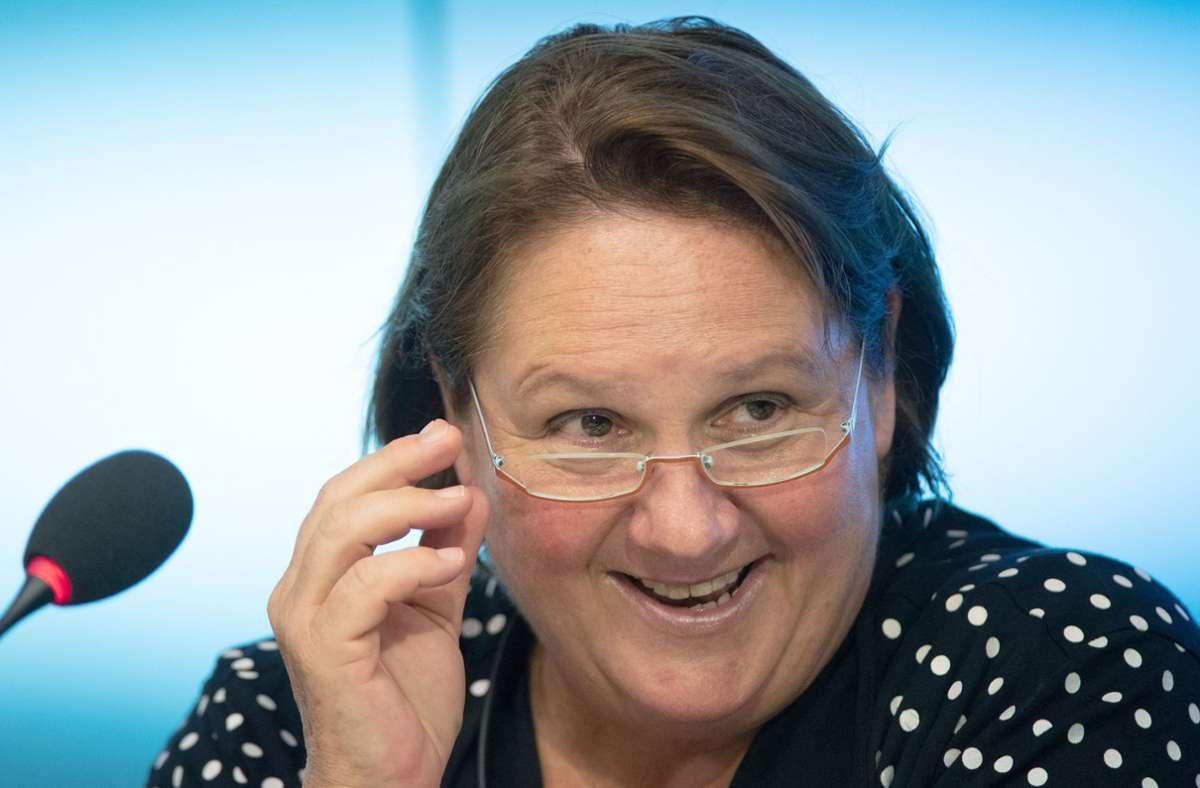 Kultusministerin  Schopper  wirbt für geschlechtergerechte Sprache. Foto: dpa/B. Weissbrod
